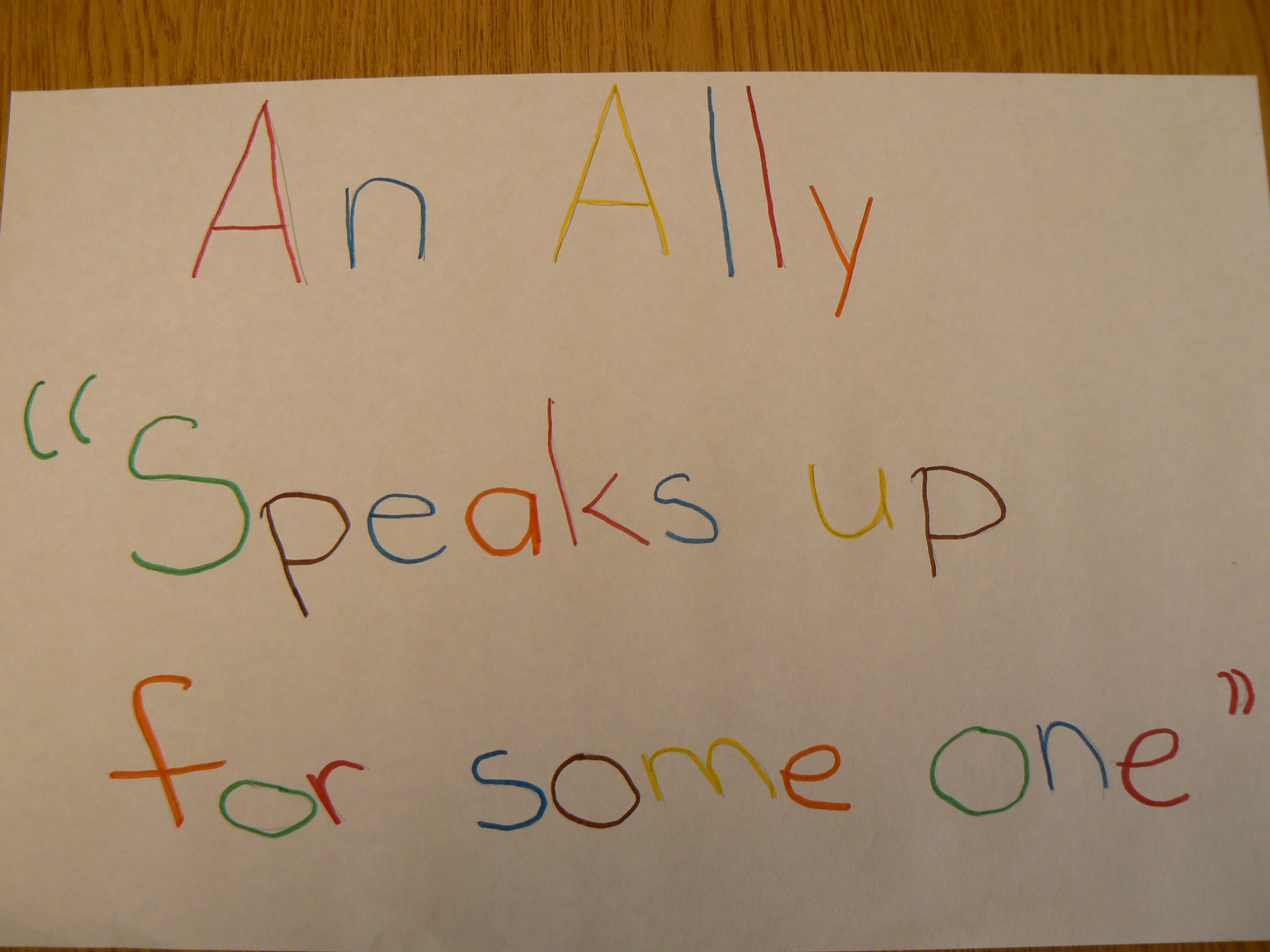 Allies of all ages create safe and inclusive schools